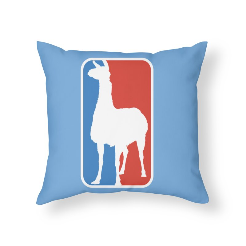 Llama Players Home Throw Pillow by HIDENbehindAroc's Shop