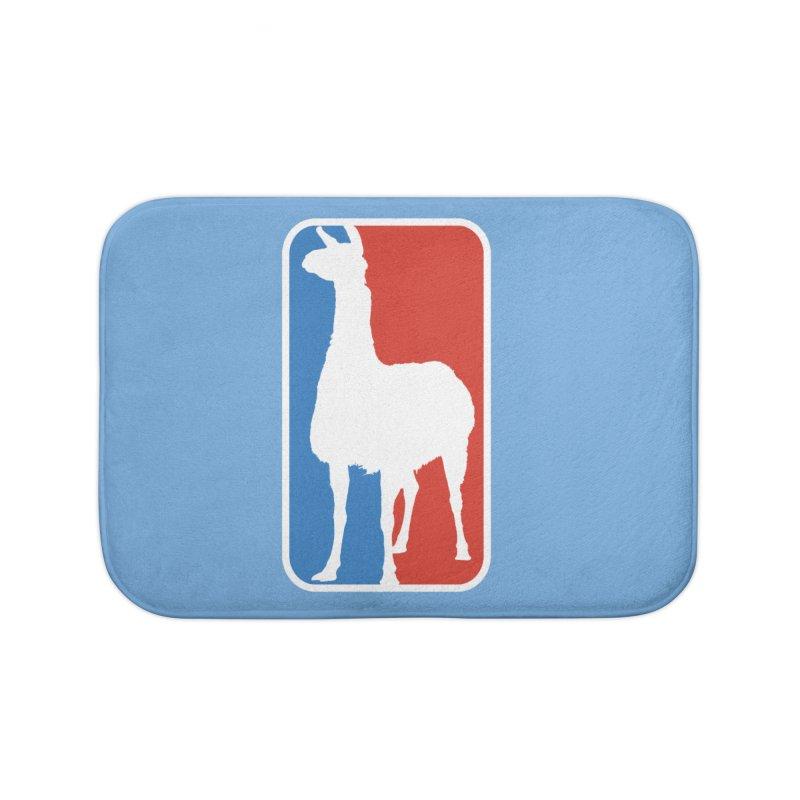 Llama Players Home Bath Mat by HIDENbehindAroc's Shop