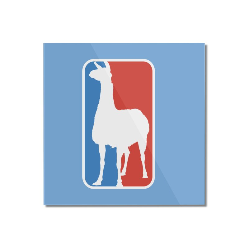 Llama Players Home Mounted Acrylic Print by HIDENbehindAroc's Shop