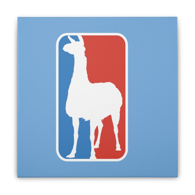 Llama Players Home Stretched Canvas by HIDENbehindAroc's Shop