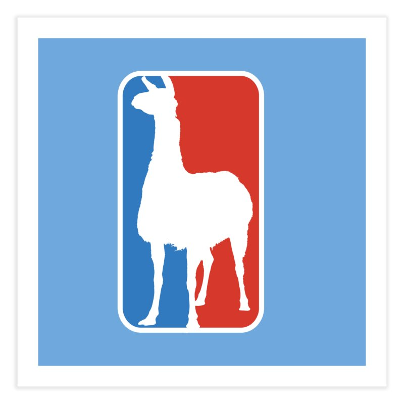 Llama Players Home Fine Art Print by HIDENbehindAroc's Shop