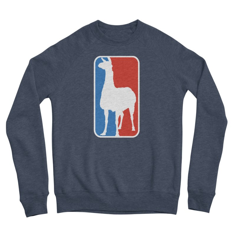 Llama Players Men's Sponge Fleece Sweatshirt by HIDENbehindAroc's Shop