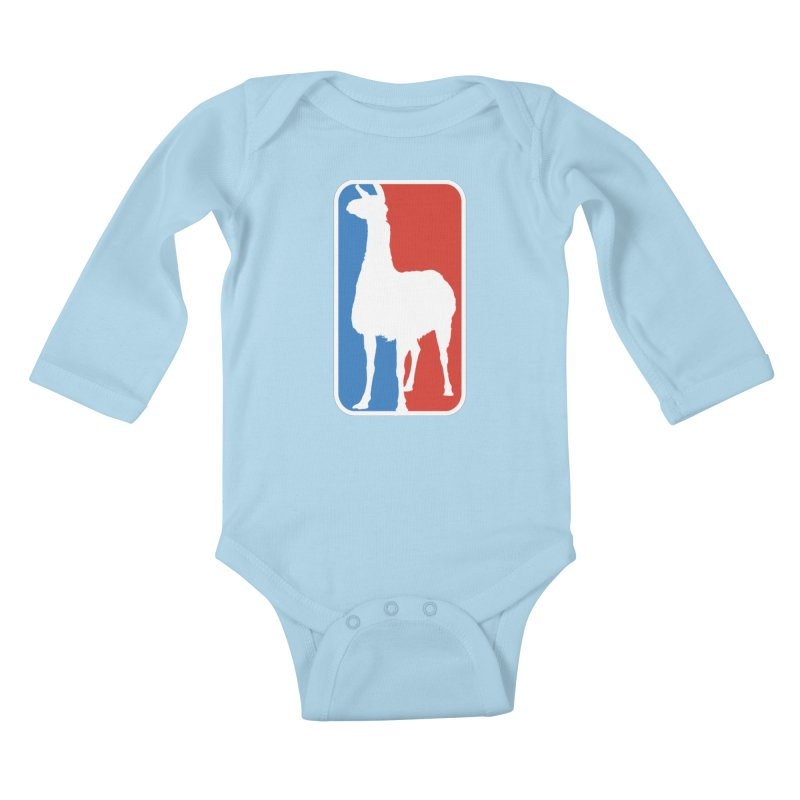 Llama Players Kids Baby Longsleeve Bodysuit by HIDENbehindAroc's Shop