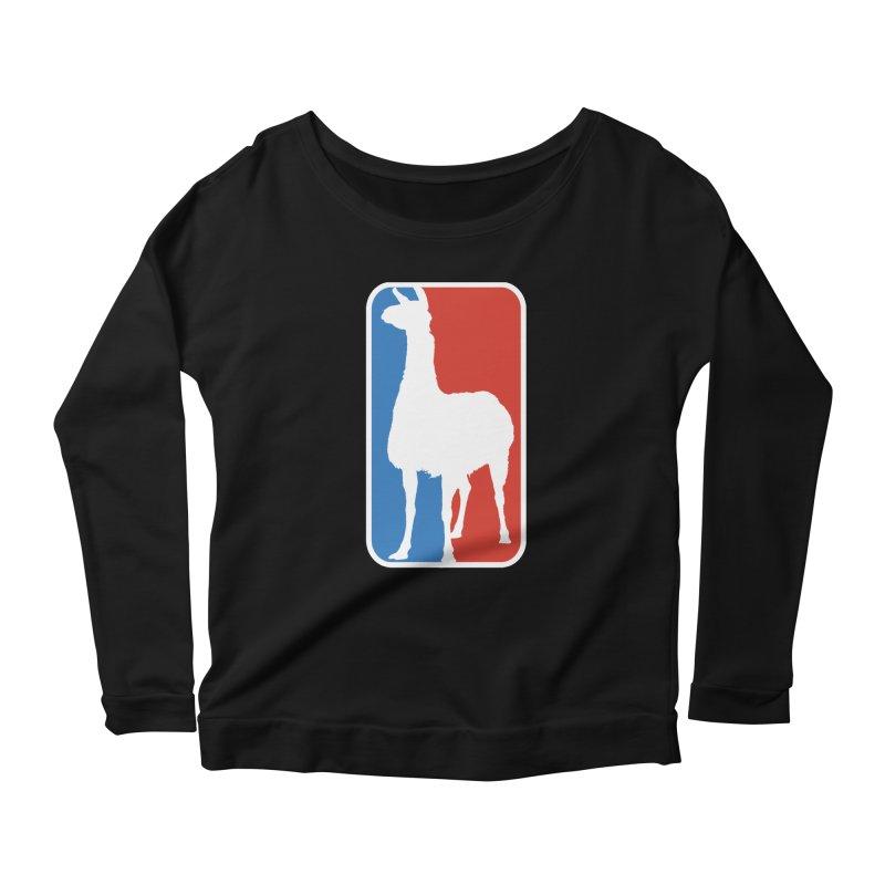 Llama Players Women's Scoop Neck Longsleeve T-Shirt by HIDENbehindAroc's Shop