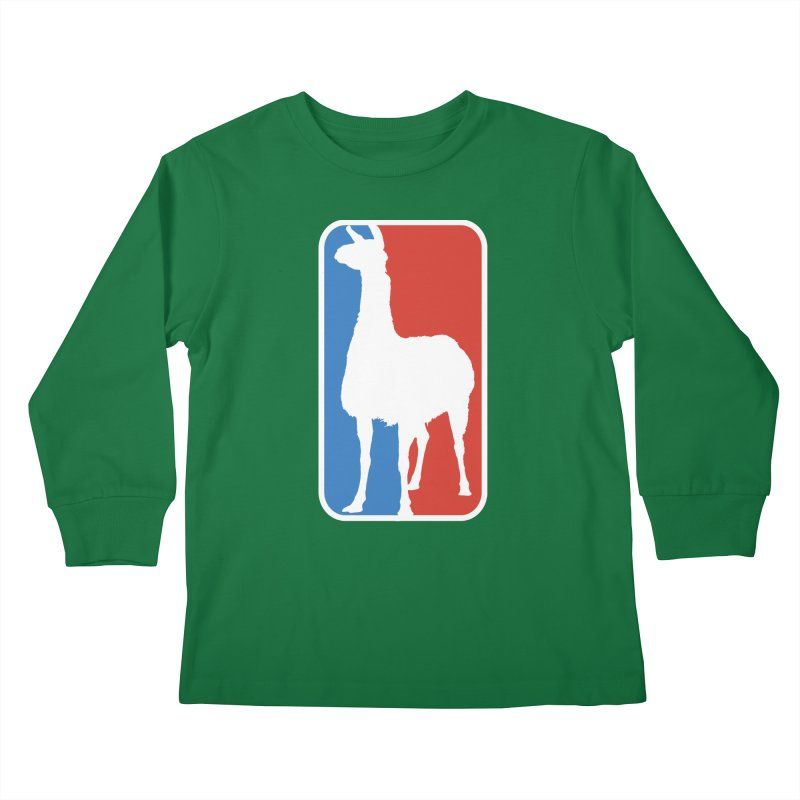 Llama Players Kids Longsleeve T-Shirt by HIDENbehindAroc's Shop