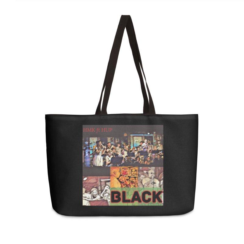 BLACK in Weekender Bag by HMKALLDAY's Artist Shop