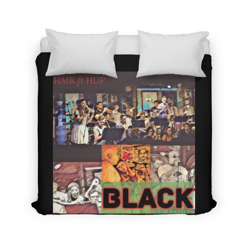 BLACK Home Duvet by HMKALLDAY's Artist Shop