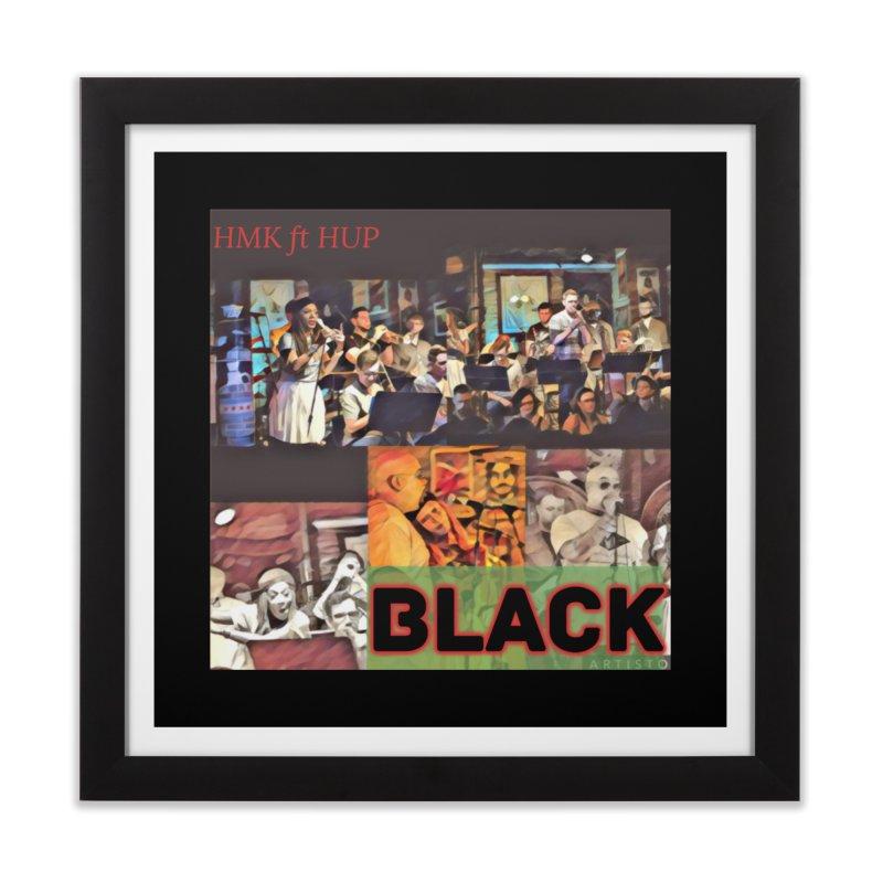 BLACK Home Framed Fine Art Print by HMKALLDAY's Artist Shop