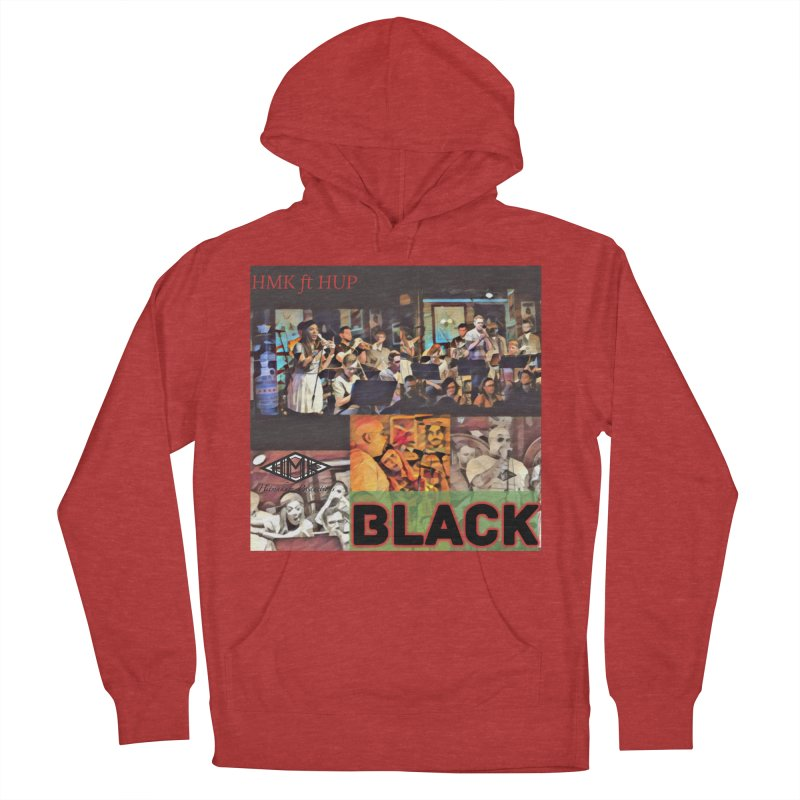 BLACK Women's French Terry Pullover Hoody by HMKALLDAY's Artist Shop