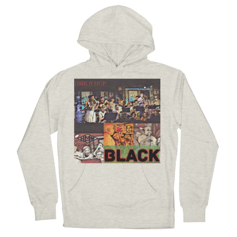 BLACK Men's French Terry Pullover Hoody by HMKALLDAY's Artist Shop
