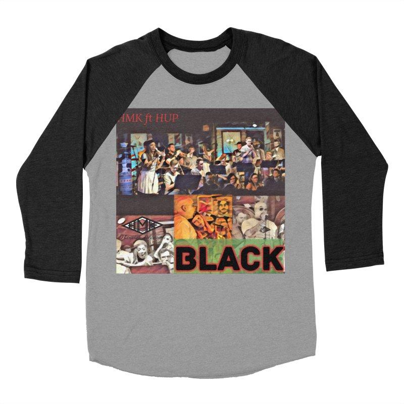 BLACK Women's Baseball Triblend Longsleeve T-Shirt by HMKALLDAY's Artist Shop