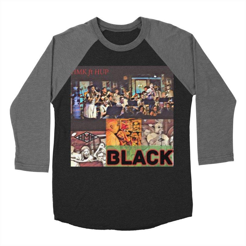 BLACK Men's Baseball Triblend Longsleeve T-Shirt by HMKALLDAY's Artist Shop
