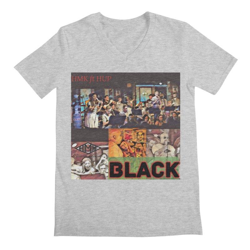 BLACK Men's Regular V-Neck by HMKALLDAY's Artist Shop