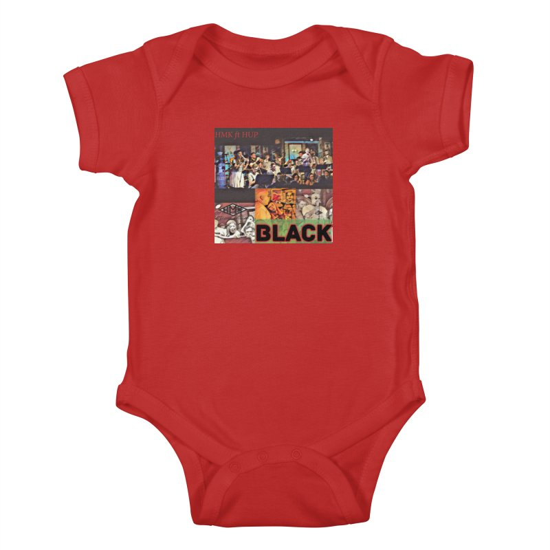 BLACK Kids Baby Bodysuit by HMKALLDAY's Artist Shop