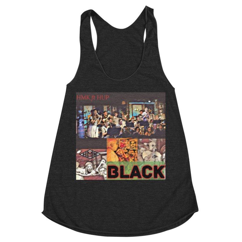 BLACK Women's Racerback Triblend Tank by HMKALLDAY's Artist Shop