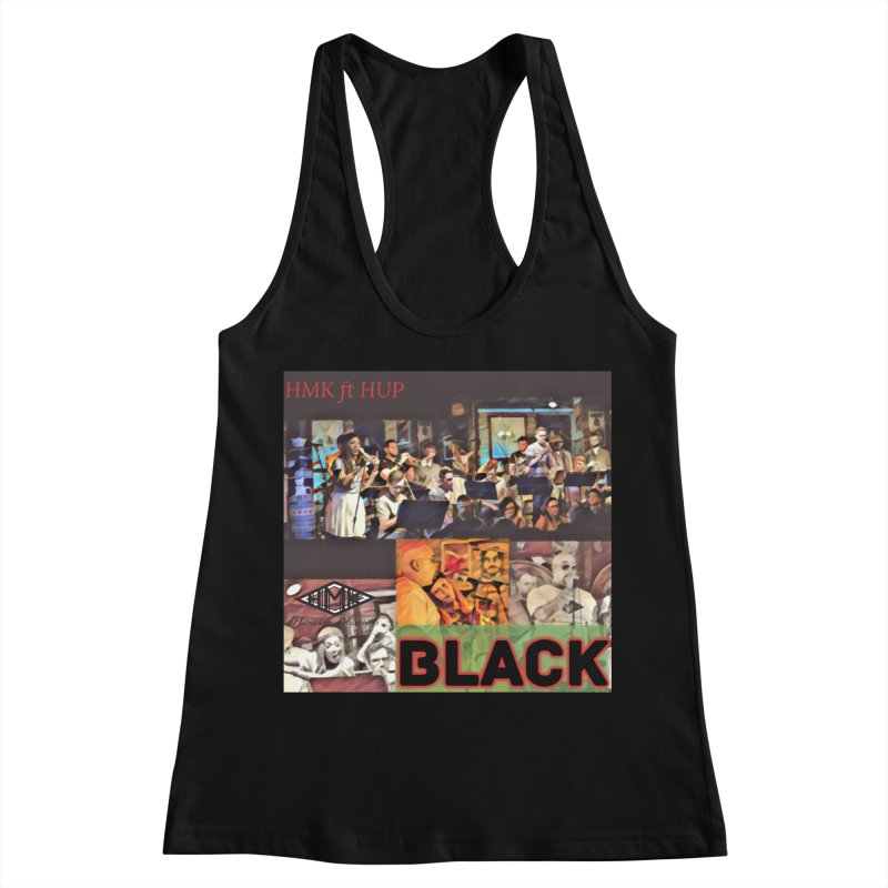 BLACK Women's Racerback Tank by HMKALLDAY's Artist Shop