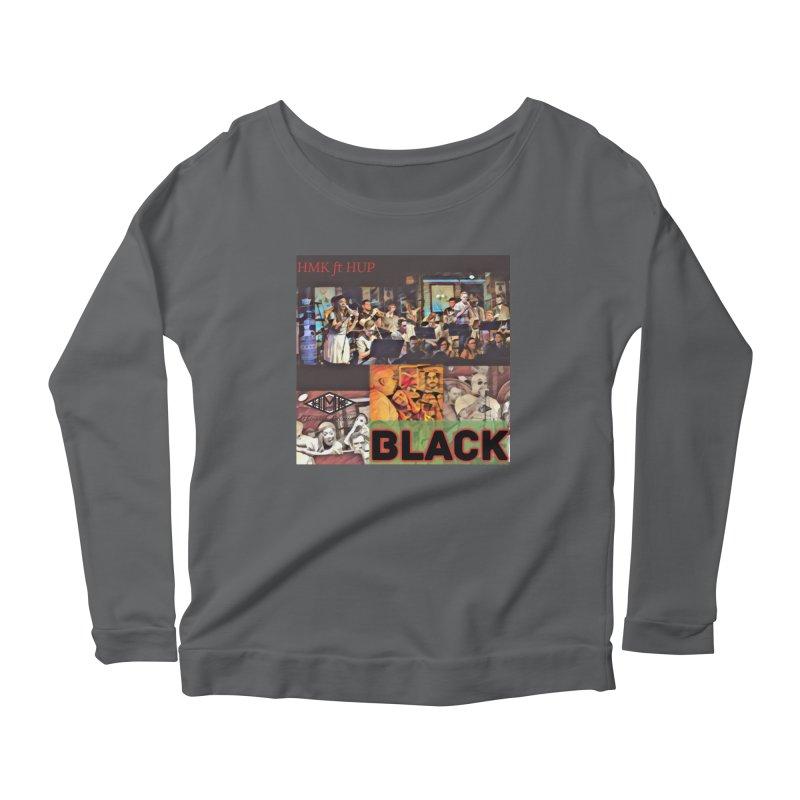 BLACK Women's Scoop Neck Longsleeve T-Shirt by HMKALLDAY's Artist Shop