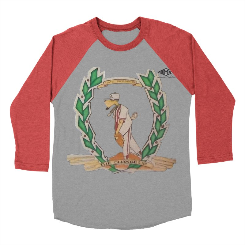The Changeup in Men's Baseball Triblend Longsleeve T-Shirt Chili Red Sleeves by HMKALLDAY's Artist Shop