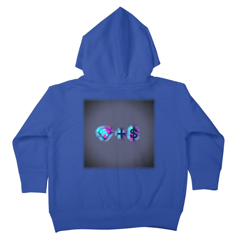 Diamondzndollasignz Kids Toddler Zip-Up Hoody by HMKALLDAY's Artist Shop