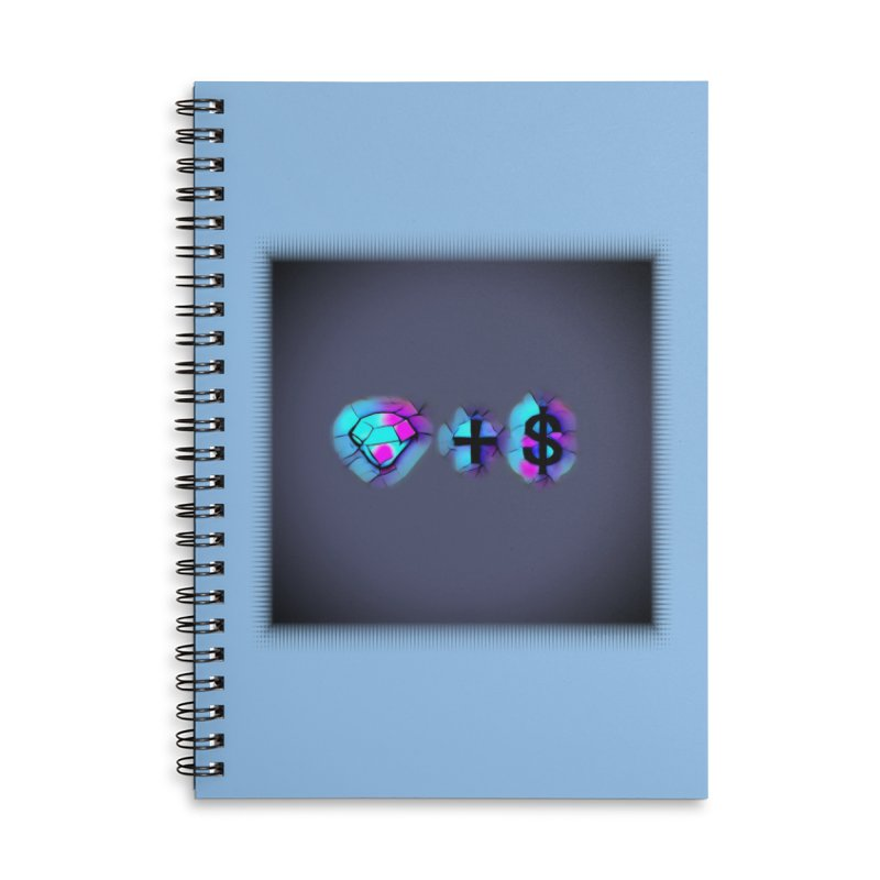 Diamondzndollasignz Accessories Lined Spiral Notebook by HMKALLDAY's Artist Shop