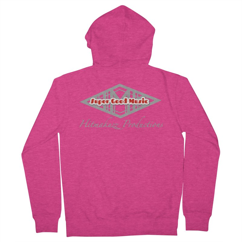 Super Good Music in Women's French Terry Zip-Up Hoody Heather Heliconia by HMKALLDAY's Artist Shop
