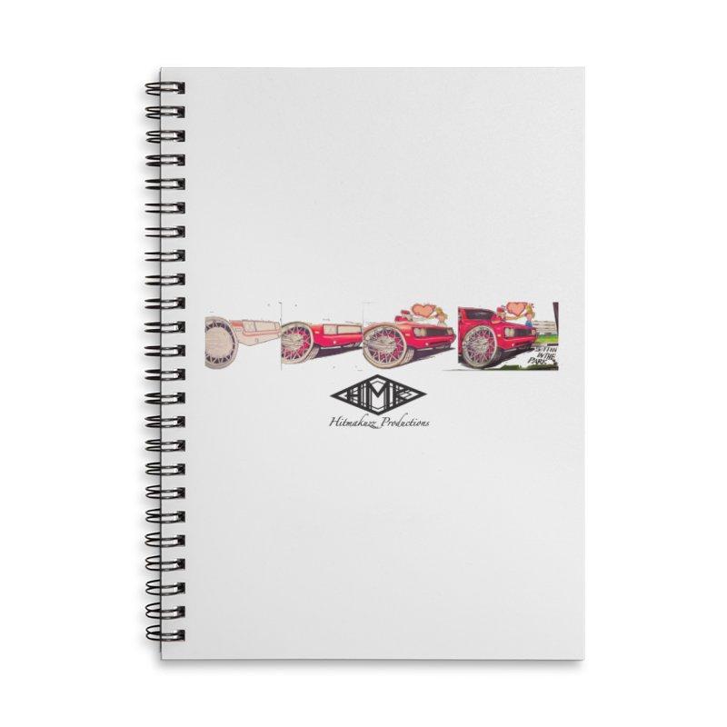 Sittin In Tha Park Accessories Lined Spiral Notebook by HMKALLDAY's Artist Shop