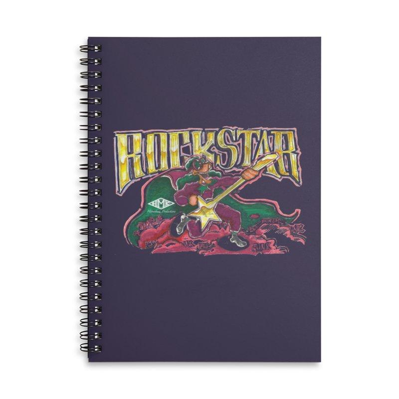 RocKstar Accessories Lined Spiral Notebook by HMKALLDAY's Artist Shop