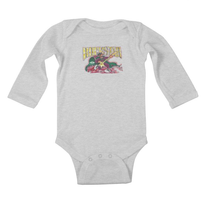 RocKstar Kids Baby Longsleeve Bodysuit by HMKALLDAY's Artist Shop