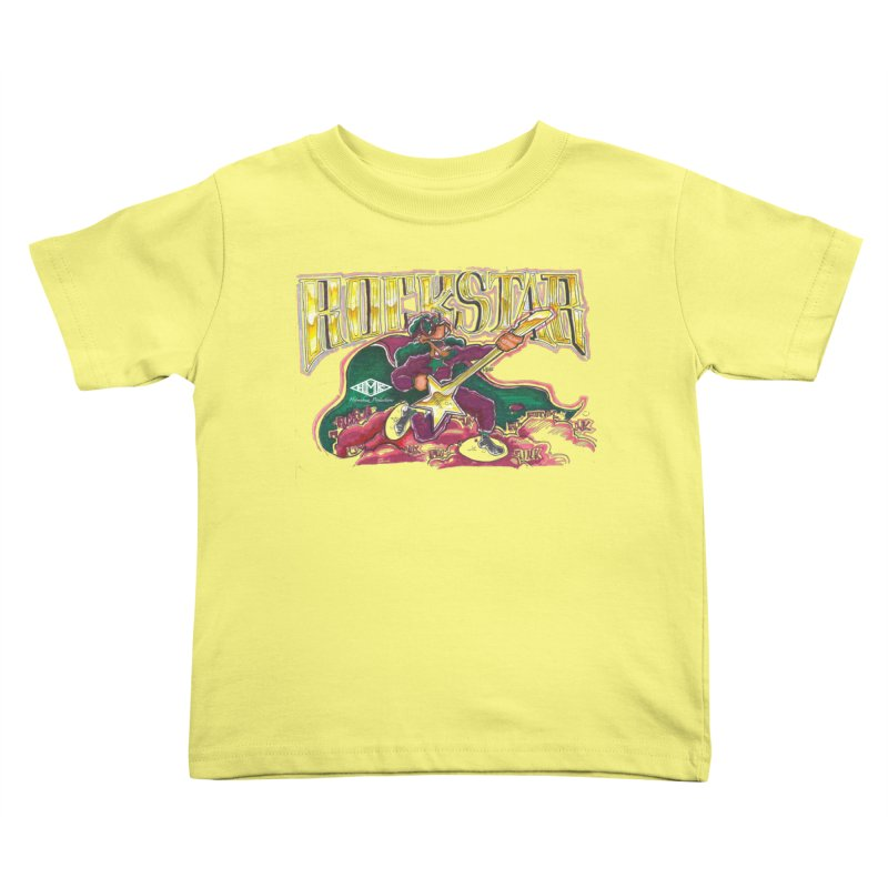 RocKstar Kids Toddler T-Shirt by HMKALLDAY's Artist Shop