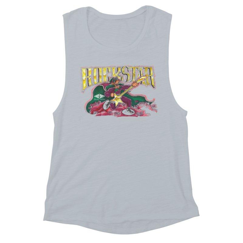 RocKstar Women's Muscle Tank by HMKALLDAY's Artist Shop