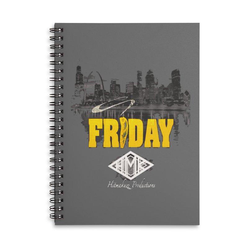 Friday Accessories Lined Spiral Notebook by HMKALLDAY's Artist Shop