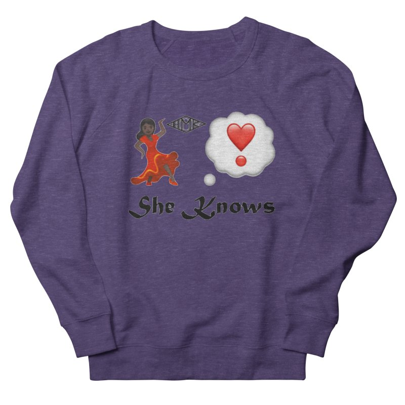 She Knows Men's French Terry Sweatshirt by HMKALLDAY's Artist Shop