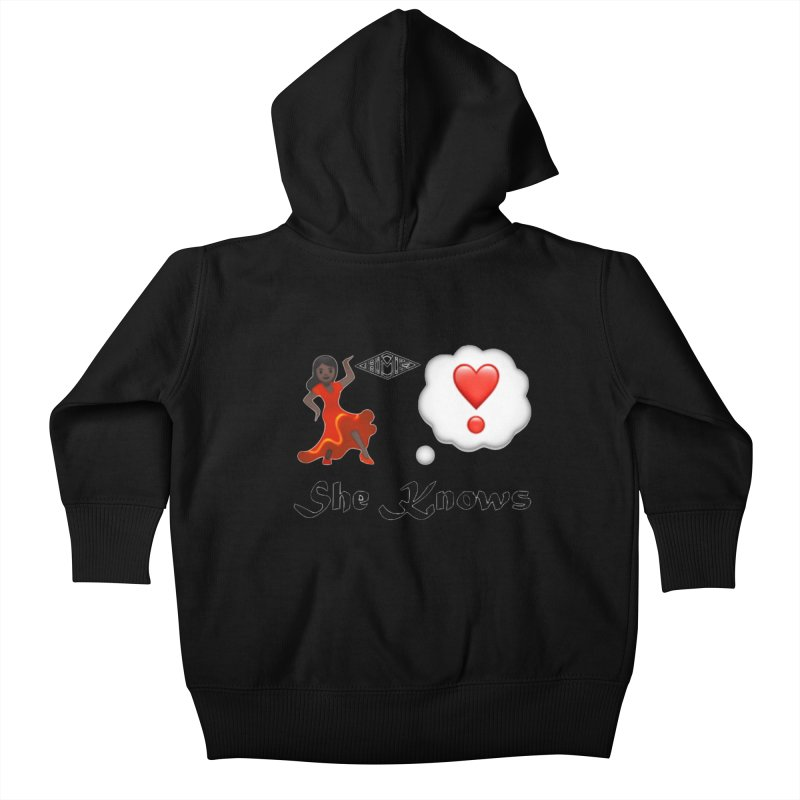 She Knows Kids Baby Zip-Up Hoody by HMKALLDAY's Artist Shop