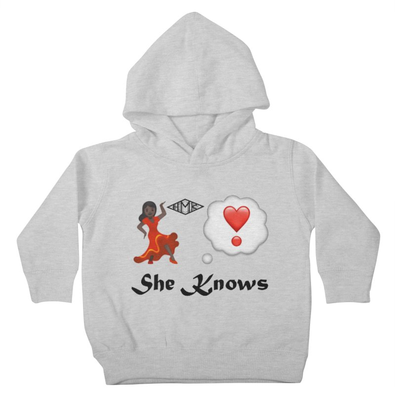 She Knows Kids Toddler Pullover Hoody by HMKALLDAY's Artist Shop