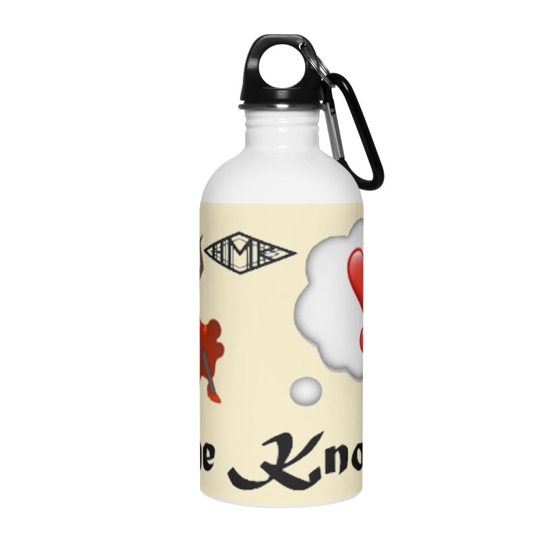 She Knows Accessories Water Bottle by HMKALLDAY's Artist Shop