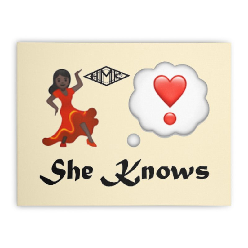 She Knows Home Stretched Canvas by HMKALLDAY's Artist Shop