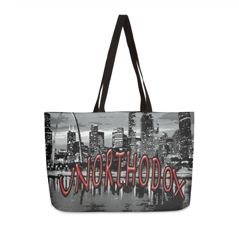 UNORTHODOX Accessories Weekender Bag Bag by HMKALLDAY's Artist Shop