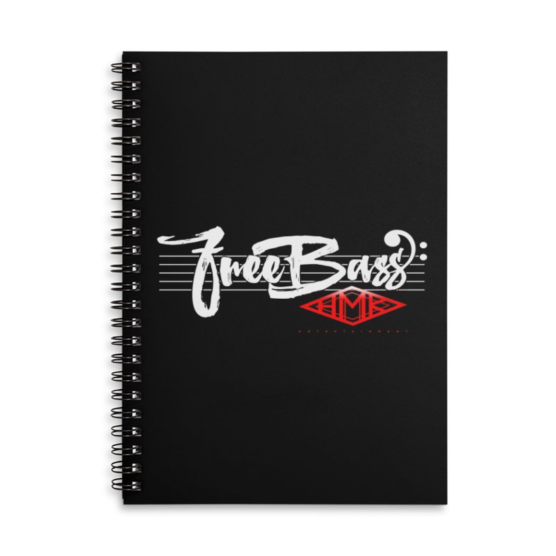 FreeBass Accessories Lined Spiral Notebook by HMKALLDAY's Artist Shop