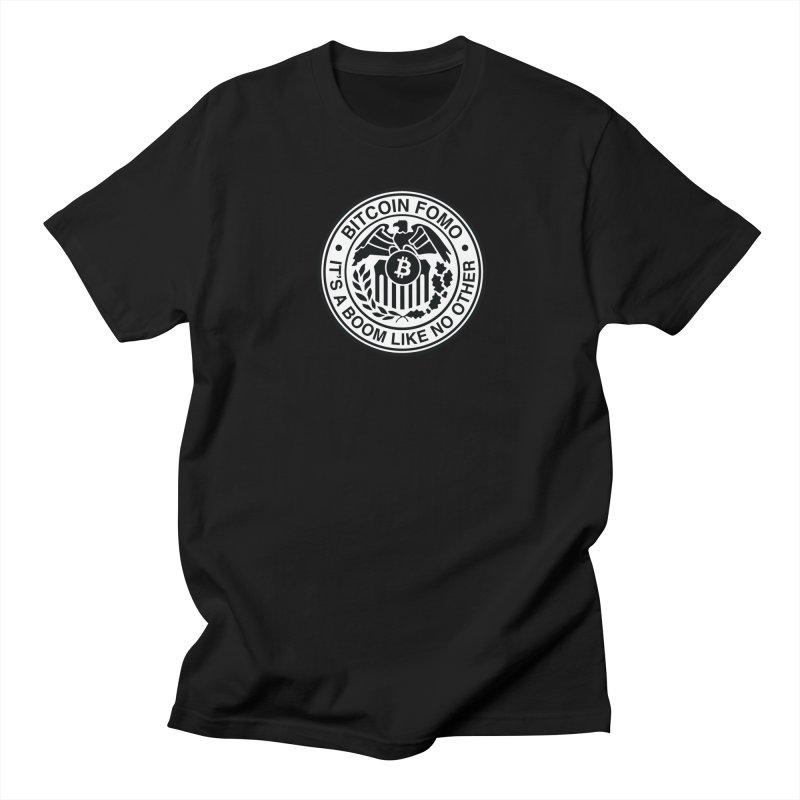 Federal Reserve in Men's Regular T-Shirt Black by HODL's Artist Shop