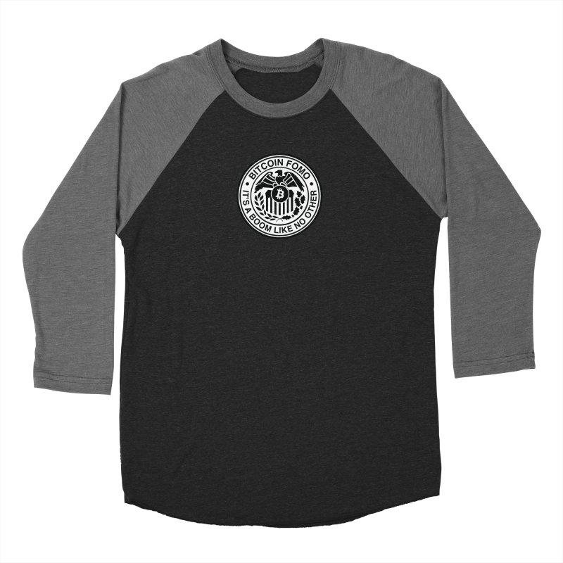 Federal Reserve Men's Baseball Triblend Longsleeve T-Shirt by HODL's Artist Shop
