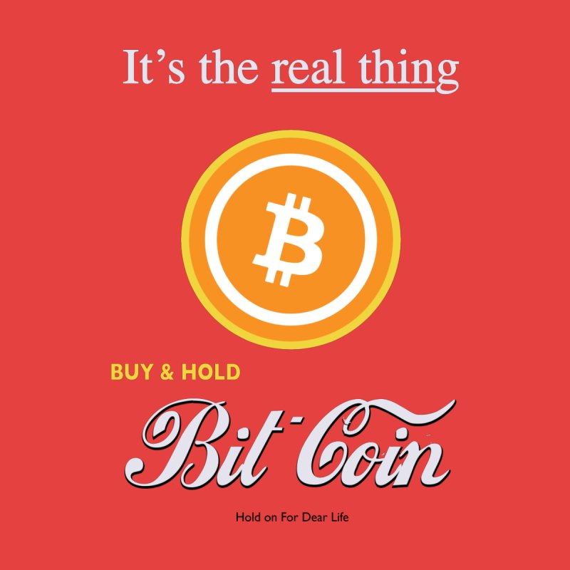 Coca-Cola Men's T-Shirt by HODL's Artist Shop