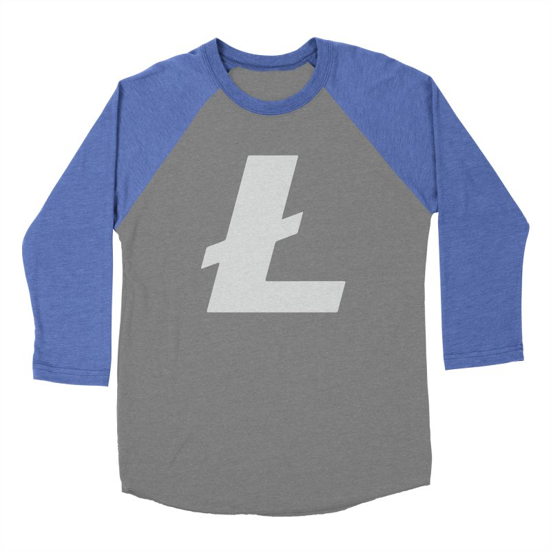 Ł is for Litecoin Men's Baseball Triblend Longsleeve T-Shirt by HODL's Artist Shop