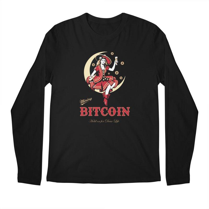 Mining Bitcoin Men's Regular Longsleeve T-Shirt by HODL's Artist Shop