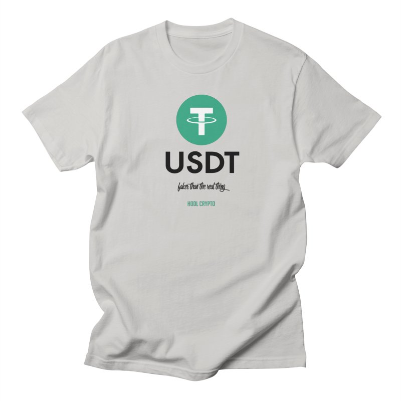 Tether in Men's Regular T-Shirt Stone by HODL's Artist Shop