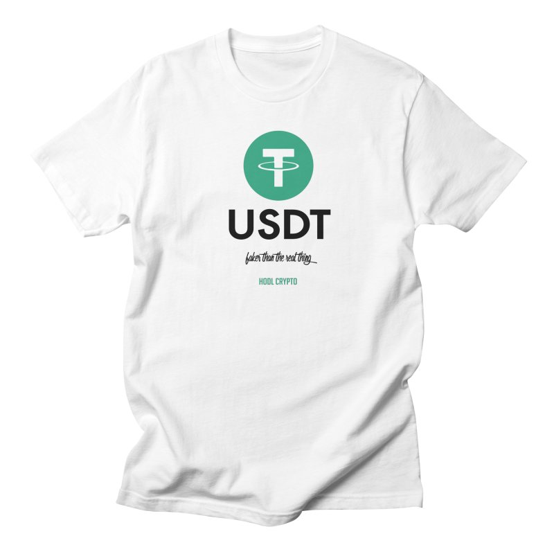 Tether in Men's Regular T-Shirt White by HODL's Artist Shop