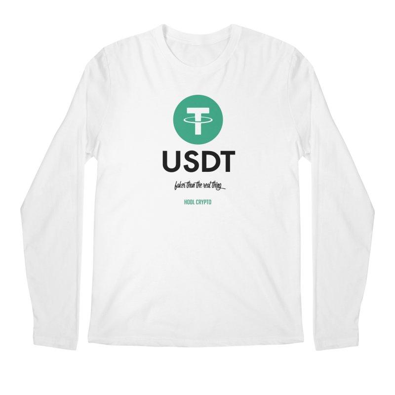 Tether Men's Regular Longsleeve T-Shirt by HODL's Artist Shop