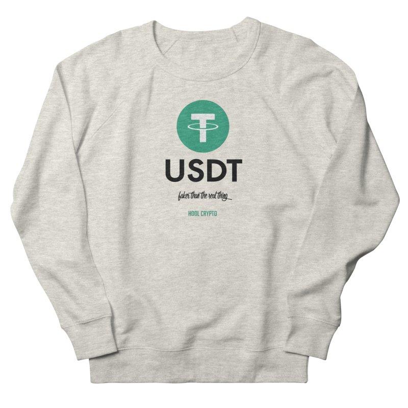 Tether Men's Sweatshirt by HODL's Artist Shop