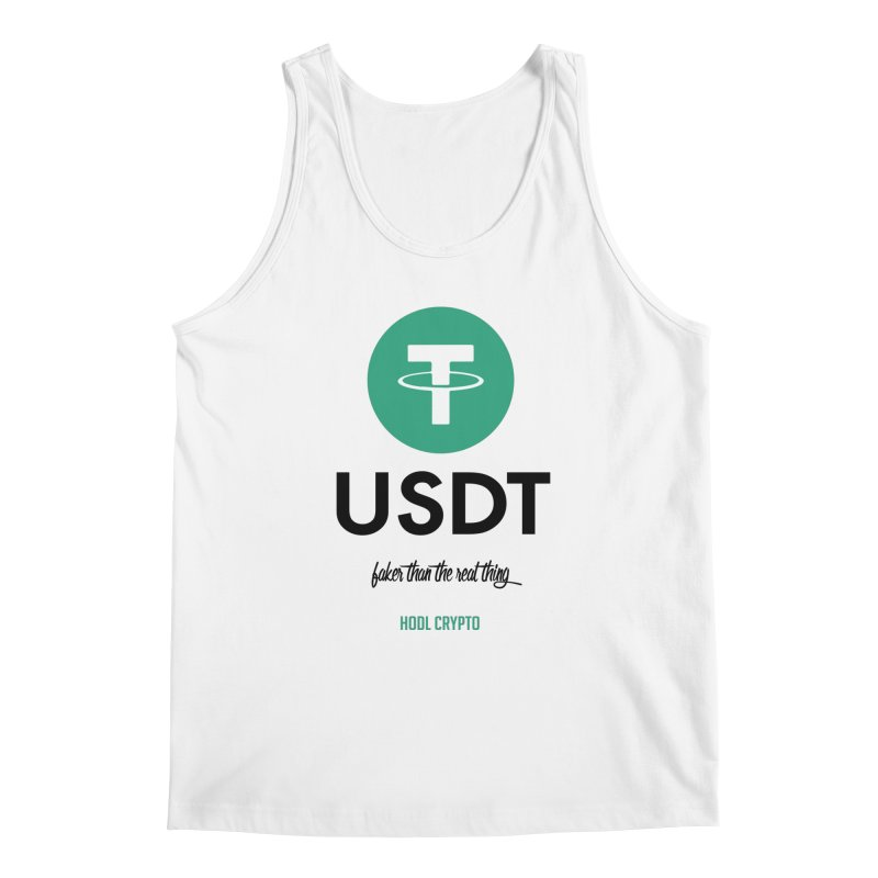 Tether Men's Regular Tank by HODL's Artist Shop