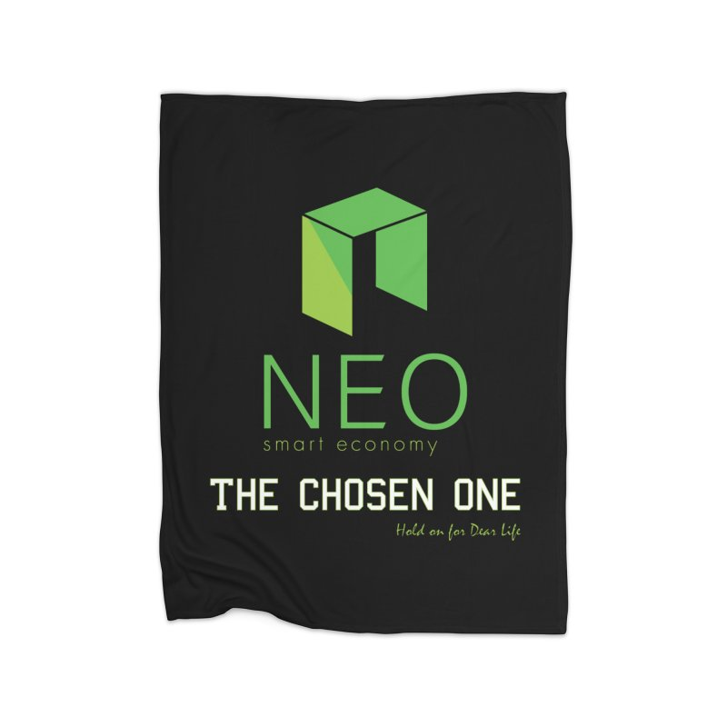 NEO Home Fleece Blanket Blanket by HODL's Artist Shop