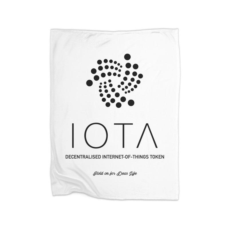 IOTA Home Fleece Blanket Blanket by HODL's Artist Shop